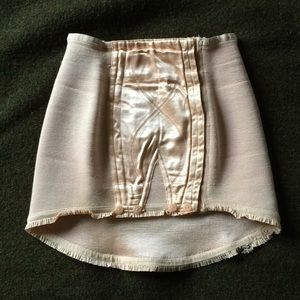 Antique French Waist/Hip Shaper w/ Garter Hook XXS